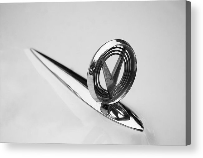 1955 Buick Special Photographs Acrylic Print featuring the photograph 1955 Buick Special Hood Ornament by Brooke Roby