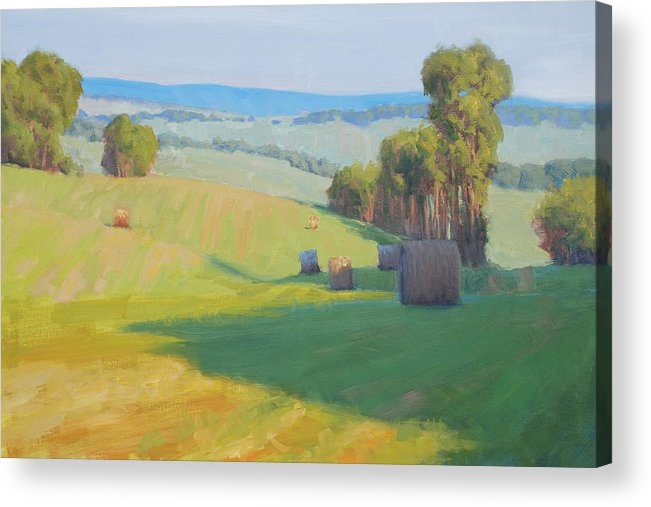 Landscape Acrylic Print featuring the painting Along Rectortown Road by Armand Cabrera