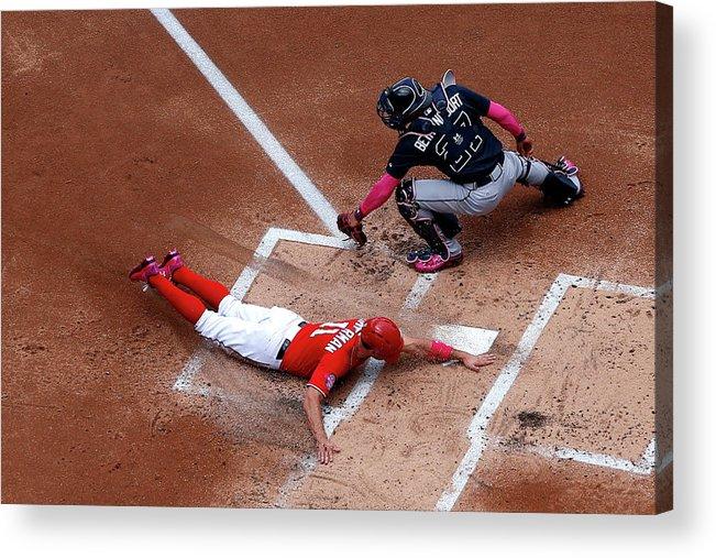 Baseball Catcher Acrylic Print featuring the photograph Atlanta Braves V Washington Nationals 1 by Patrick Smith
