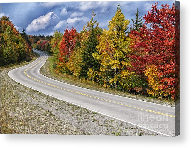 Fall Acrylic Print featuring the photograph Autumn Highland Scenic Highway by Thomas R Fletcher