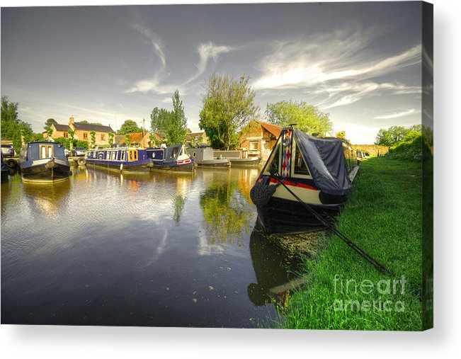 Aynho Acrylic Print featuring the photograph Aynho Wharf by Rob Hawkins