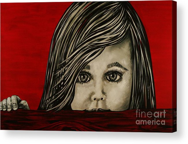 Portrait Acrylic Print featuring the painting Bright Eyes by Doreen Karales Zonts