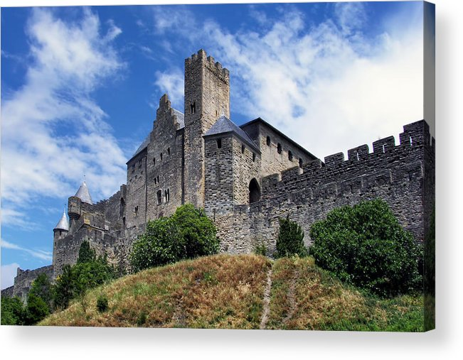 Ancient Acrylic Print featuring the photograph Carcassonne By Day by Nikolyn McDonald