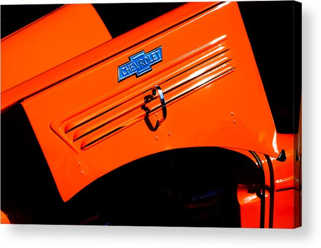 Chevrolet Hood Acrylic Print featuring the photograph Chevrolet Hood by Jill Reger