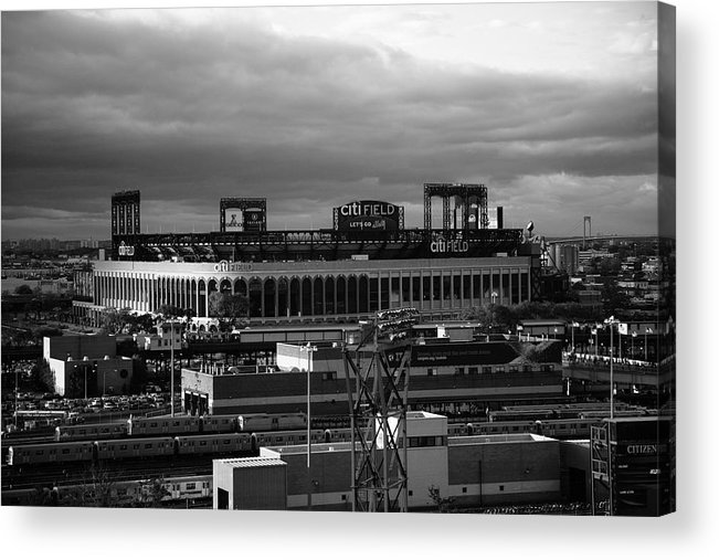 America Acrylic Print featuring the photograph Citi Field - New York Mets by Frank Romeo