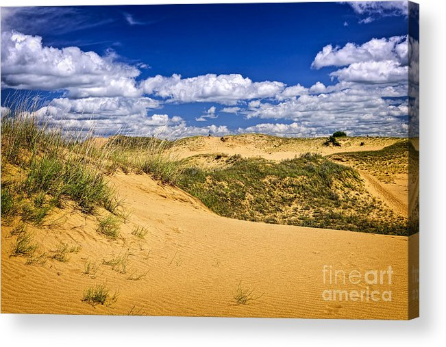 Sand Acrylic Print featuring the photograph Desert Landscape In Manitoba by Elena Elisseeva