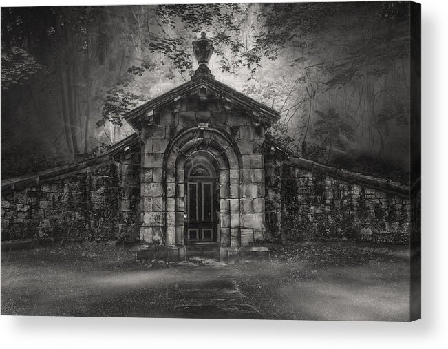 Cemetary Acrylic Print featuring the photograph Do Not Enter by Gary Smith