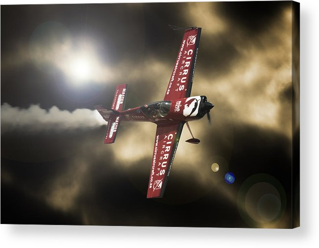 Extra 300 Acrylic Print featuring the photograph Extra Smoke by Paul Job