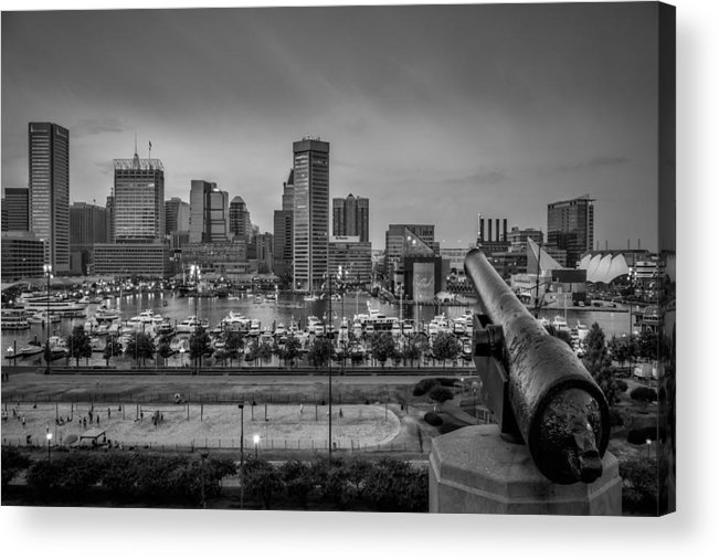Baltimore Acrylic Print featuring the photograph Federal Hill In Baltimore Maryland by Susan Candelario