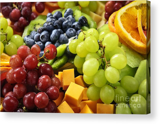Fruit Acrylic Print featuring the photograph Fresh Fruits by Elena Elisseeva
