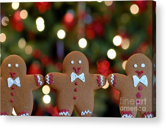 Arms Out Acrylic Print featuring the photograph Gingerbread Men In A Line by Amy Cicconi