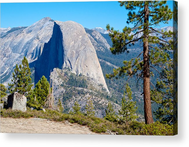 Half Dome From Sentinel Dome Trail In Yosemite Np Acrylic Print featuring the photograph Half Dome From Sentinel Dome Trail In Yosemite Np-ca by Ruth Hager