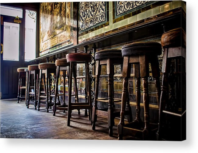 Barstools Acrylic Print featuring the photograph Have A Seat by Heather Applegate