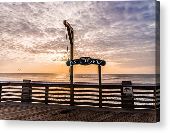 Jeanette's Pier Acrylic Print featuring the photograph Jeanette's Pier by Stacy Abbott
