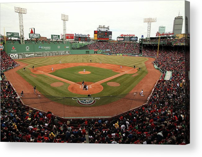 American League Baseball Acrylic Print featuring the photograph Milwaukee Brewers V Boston Red Sox 1 by Jared Wickerham