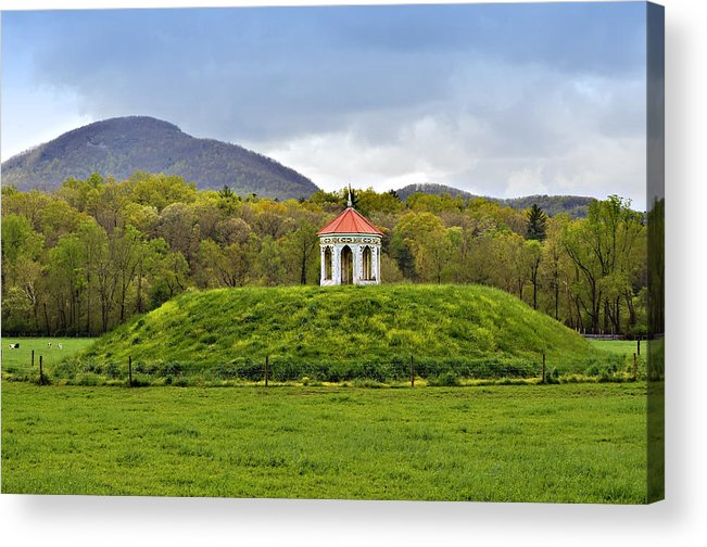 Mound Gazebo Indian Mountains Acrylic Print featuring the photograph Nacoochee Indian Mound by Susan Leggett