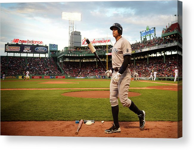 People Acrylic Print featuring the photograph New York Yankees V Boston Red Sox 1 by Adam Glanzman
