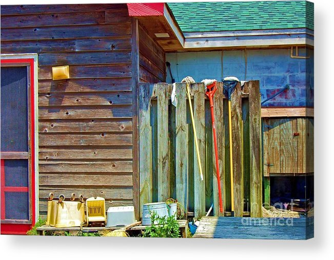 Building Acrylic Print featuring the photograph Out To Dry by Debbi Granruth