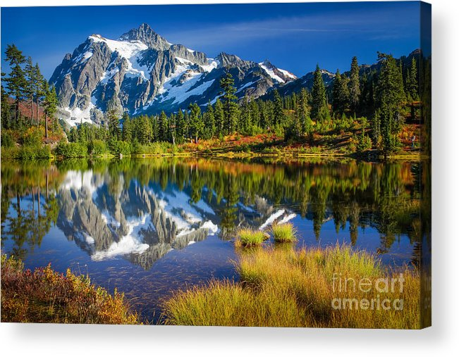 America Acrylic Print featuring the photograph Picture Lake by Inge Johnsson