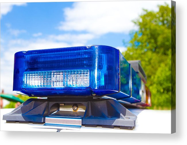 Arrest Acrylic Print featuring the photograph Police Lights by Fizzy Image
