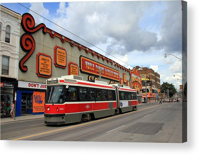 Toronto Acrylic Print featuring the photograph Red Rocket 4 by Andrew Fare