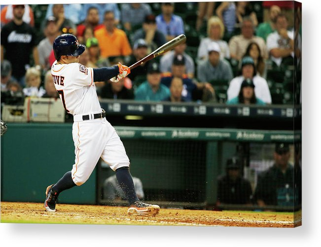 People Acrylic Print featuring the photograph Seattle Mariners V Houston Astros by Scott Halleran