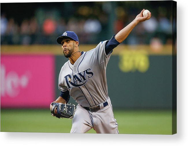 David Price Acrylic Print featuring the photograph Tampa Bay Rays V Seattle Mariners 1 by Otto Greule Jr