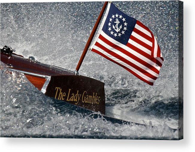 Skiff Acrylic Print featuring the photograph The Lady Gambles by Steven Lapkin