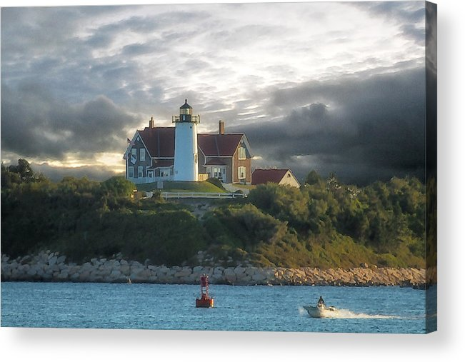 Nobska Point Lighthouse Acrylic Print featuring the photograph The Light At Nobska Point Photo Art by Constantine Gregory