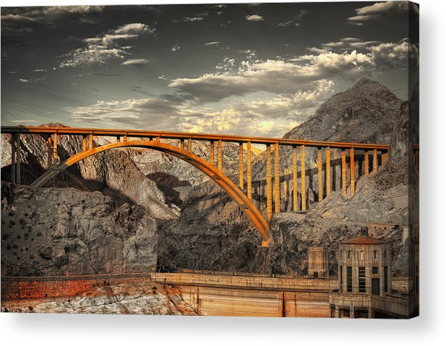Hdr Acrylic Print featuring the photograph The Link by Stephen Campbell