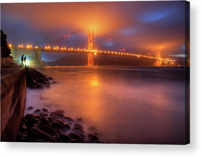 Romance Acrylic Print featuring the photograph The Place Where Romance Starts by William Lee