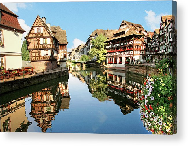 Accommodation Acrylic Print featuring the photograph Timbered Buildings, La Petite France by Miva Stock
