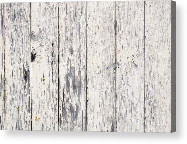 Abstract Acrylic Print featuring the photograph Weathered Paint On Wood by Tim Hester