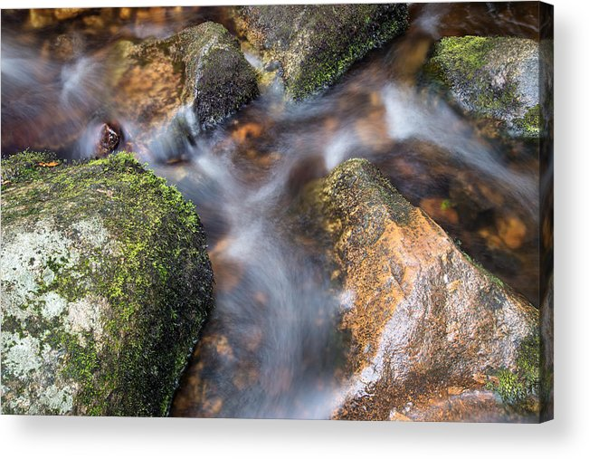Landscape Acrylic Print featuring the photograph Landscape Of Becky Falls Waterfall In Dartmoor National Park Eng by Matthew Gibson
