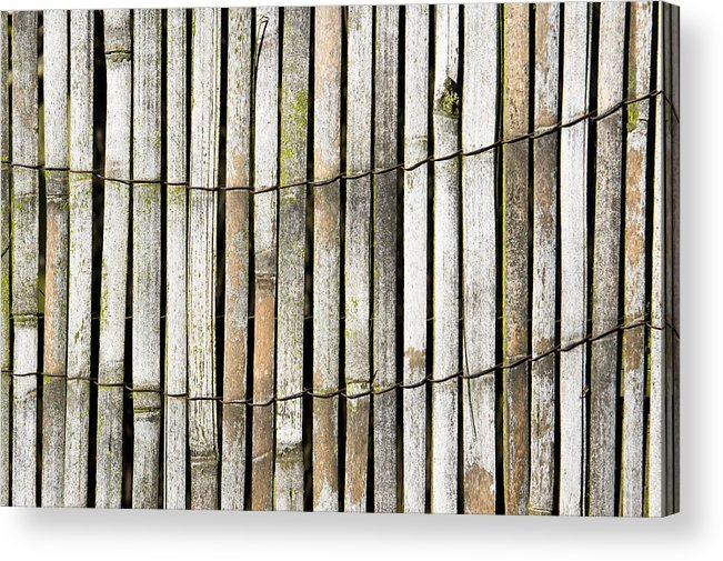 Abstract Acrylic Print featuring the photograph Wood Background by Tom Gowanlock