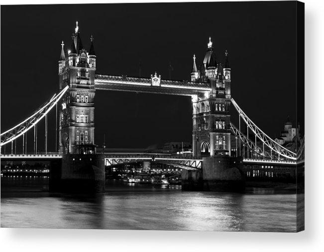 Tower Bridge Acrylic Print featuring the photograph Tower Bridge London by David Pyatt