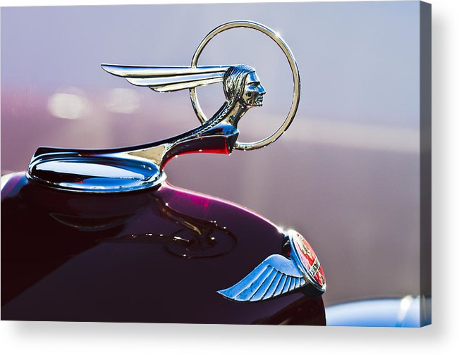 1933 Pontiac Acrylic Print featuring the photograph 1933 Pontiac Hood Ornament by Jill Reger