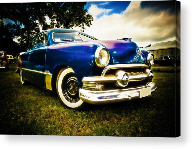 Ford Custom V8 Acrylic Print featuring the photograph 1951 Ford Custom by Phil 'motography' Clark