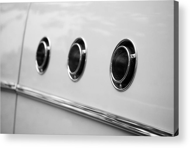 1955 Buick Special Photographs Acrylic Print featuring the photograph 1955 Buick Special Side Air Vents by Brooke Roby
