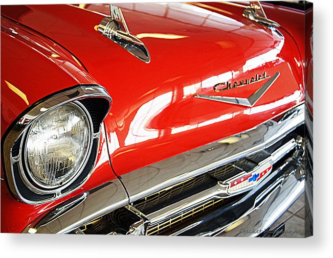 Car Acrylic Print featuring the photograph 1957 Chevrolet Bel Air by Cricket Hackmann