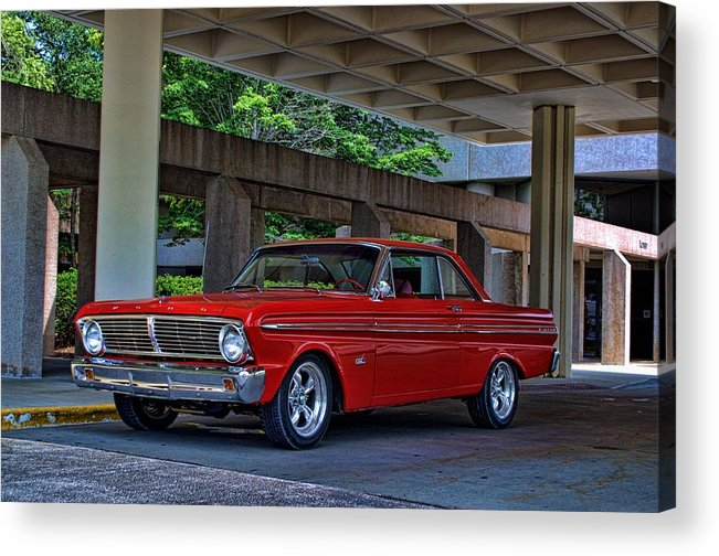 1965 Acrylic Print featuring the photograph 1965 Ford Falcon by Tim McCullough