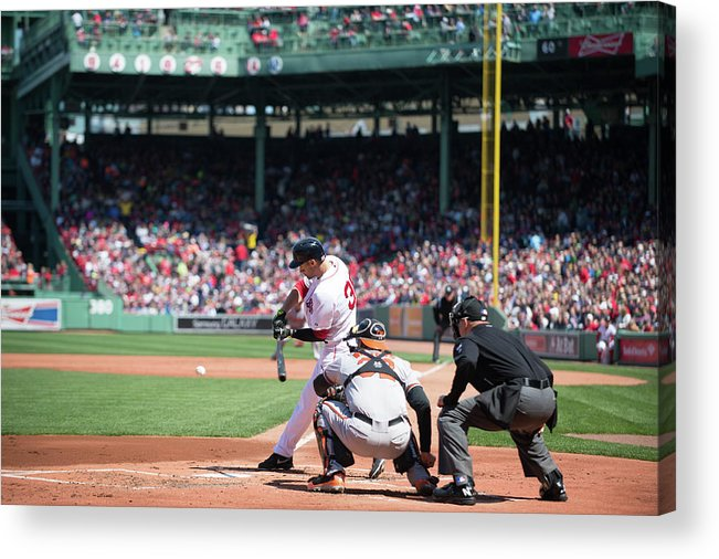 East Acrylic Print featuring the photograph Baltimore Orioles V Boston Red Sox 2 by Rob Tringali