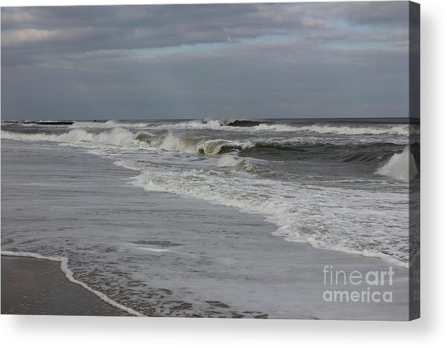 Gray Acrylic Print featuring the photograph After The Storm by Suzanne Kelly