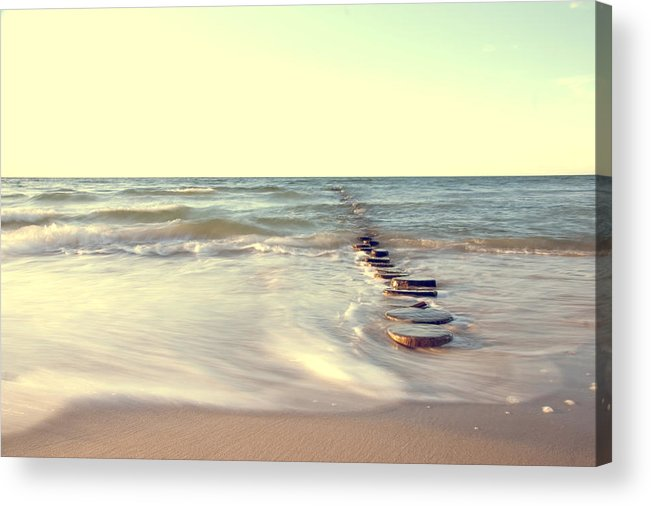 Ostsee Acrylic Print featuring the pyrography Beach by Steffen Gierok