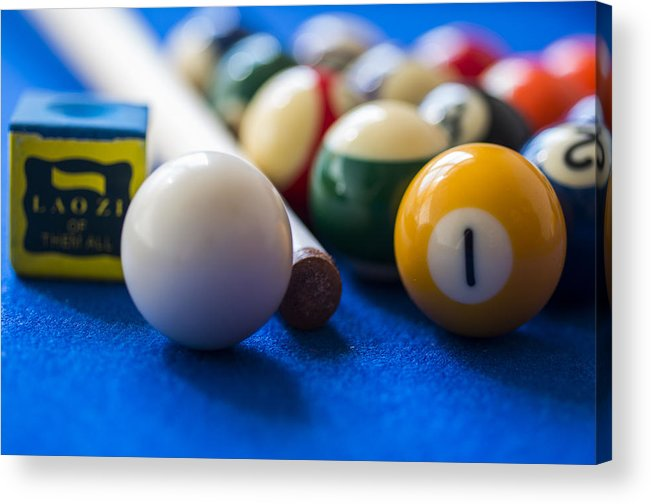 Pool Acrylic Print featuring the photograph Billiard Balls by Paulo Goncalves