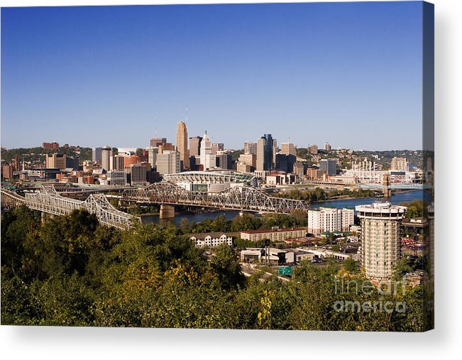 Cincinnati Acrylic Print featuring the photograph Cincinnati, Ohio by David Davis