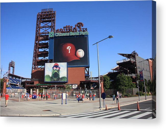 America Acrylic Print featuring the photograph Citizens Bank Park - Philadelphia Phillies by Frank Romeo