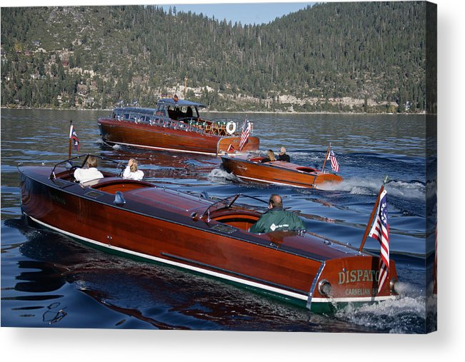 Skiff Acrylic Print featuring the photograph Classic Tahoe Runabouts by Steven Lapkin
