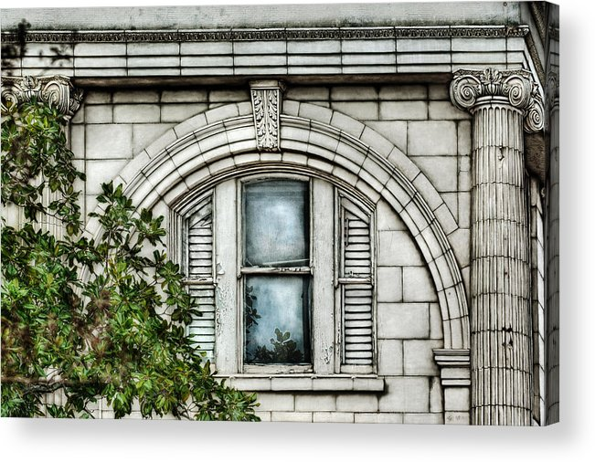 Window Acrylic Print featuring the photograph Elegance In The French Quarter by Brenda Bryant