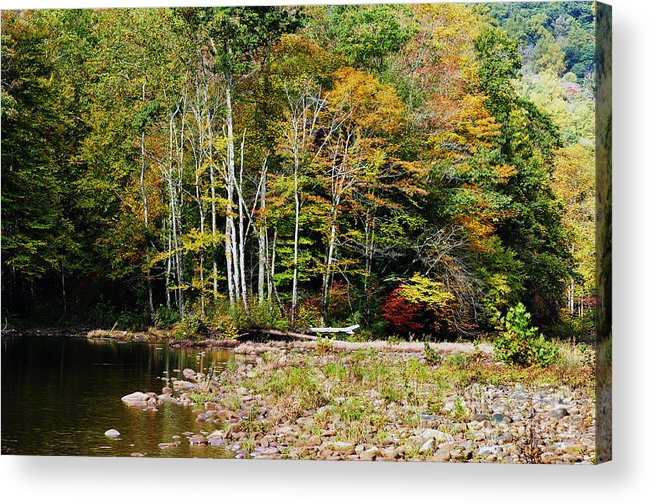 Autumn Acrylic Print featuring the photograph Fall Color River by Thomas R Fletcher